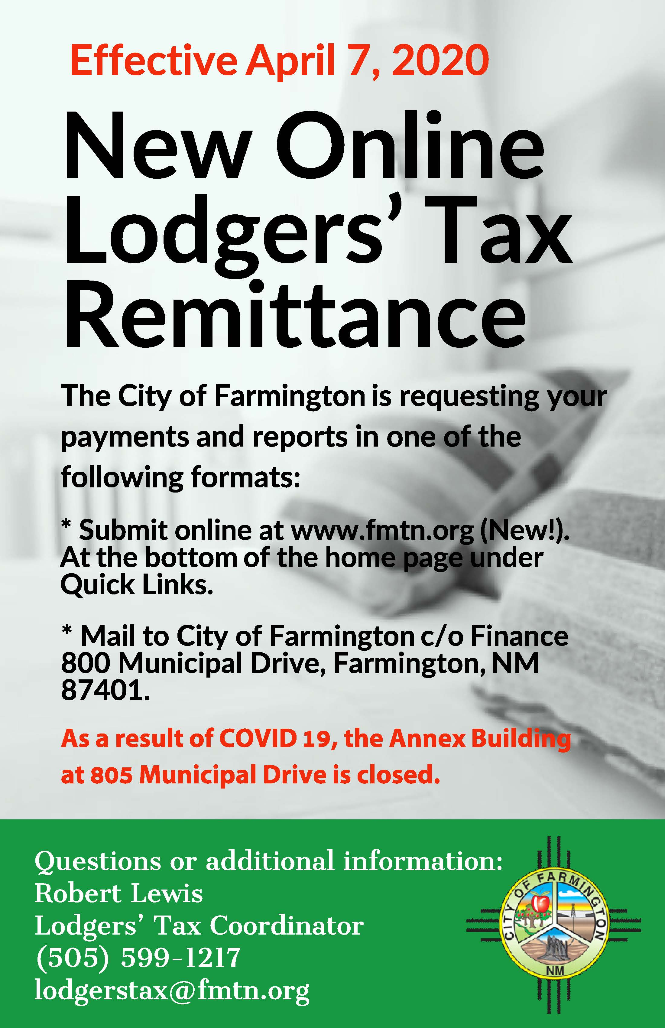 Lodgers Tax flyer